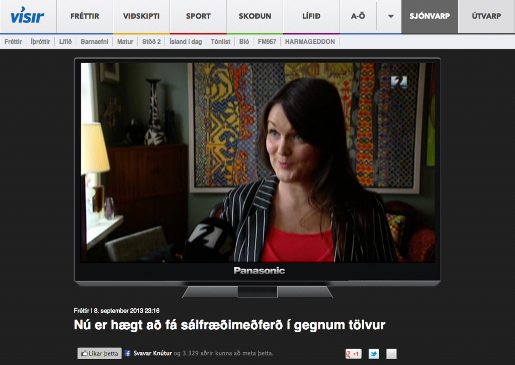 Fjola on the Icelandic news